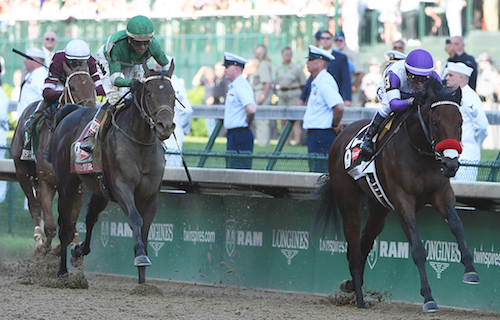 Nyquist beats Exaggerator and Gun Runner for the Roses